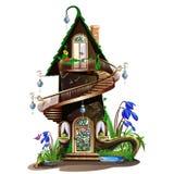 童话木房子 免版税库存图片