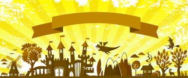 童话横幅 免版税图库摄影
