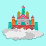 童话的概念与城堡的 免版税库存图片