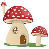 童话蘑菇议院 库存例证