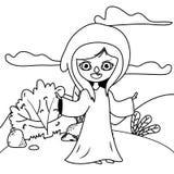 童话设计中世纪巫婆动画片  皇族释放例证