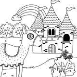 童话设计传染媒介例证中世纪马  皇族释放例证