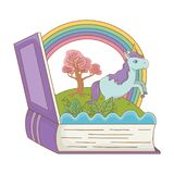 童话设计传染媒介例证书和字符  向量例证