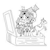 童话设计传染媒介例证的中世纪公主和骑士 皇族释放例证