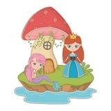 童话设计传染媒介例证的中世纪公主 向量例证