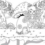 童话设计传染媒介例证的中世纪神仙 库存例证