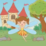 童话设计传染媒介例证神仙的动画片  皇族释放例证