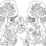 童话设计传染媒介例证美人鱼和独角兽  皇族释放例证