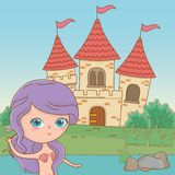 童话设计传染媒介例证美人鱼  库存例证
