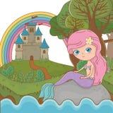 童话设计传染媒介例证美人鱼  向量例证