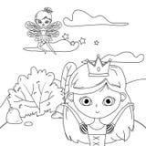 童话设计的公主和神仙 向量例证
