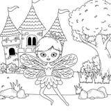 童话设计神仙的动画片  向量例证