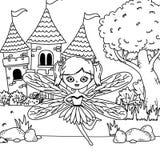 童话设计神仙的动画片  皇族释放例证