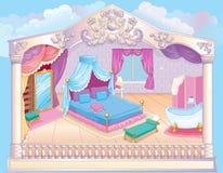 童话豪华公主Bedroom 向量例证