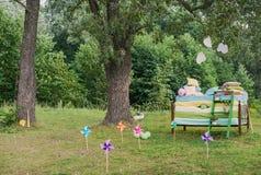 童话photoshoot 公主和豌豆 免版税库存照片