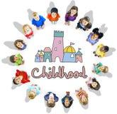 童年儿童宫殿城堡图表概念 库存图片