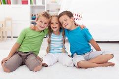 童年友谊 免版税库存照片