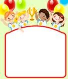 童年安排学校炫耀您的文本 免版税图库摄影