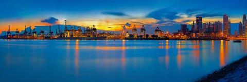 端口新加坡 免版税库存照片