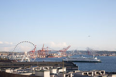 端口西雅图 免版税图库摄影