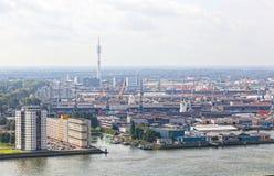 端口视图在鹿特丹 免版税图库摄影