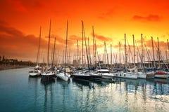 端口Vell。 巴塞罗那。 西班牙。 免版税库存图片
