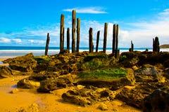 端口Willunga跳船和岩石 库存照片