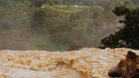 端点瀑布从一肮脏黄沙的落的水 大象瀑布 大叻 越南 股票录像