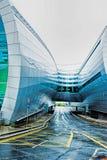 终端2都柏林机场为可能处理1的狭窄的身体航空器提供航空器停车处 免版税库存图片
