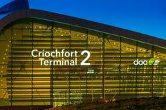 终端2都柏林机场 库存照片