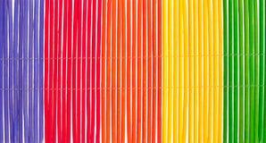 竹俏丽的彩虹数据条 免版税库存照片