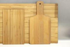 竹切板以许多形式 免版税图库摄影
