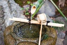 竹喷泉 免版税库存图片