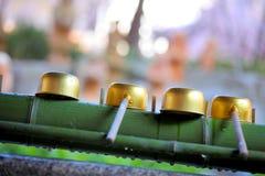 竹喷泉 免版税库存照片