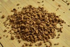 竹地板和粒子咖啡 库存图片
