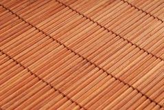 竹地毯 免版税库存图片