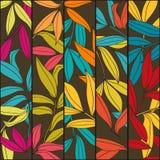 竹垂直横幅花卉的叶子 库存例证