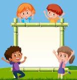 竹委员会的孩子 向量例证