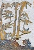竹子古老壁画  免版税库存图片