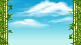 竹子和天空模板 皇族释放例证