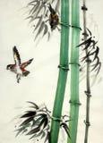 竹子和鸟 向量例证