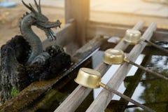 水竹子喷泉 库存照片