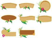 竹子构成木头 皇族释放例证