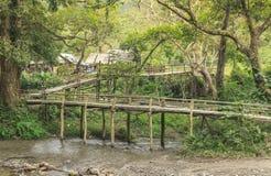 竹子桥梁 库存图片
