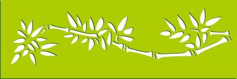 竹子模板印刷艺术 库存例证