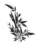 竹子现出轮廓结构树 免版税图库摄影