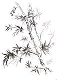 竹子被画的东部样式 向量例证