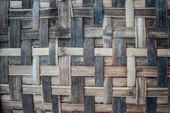 竹子被编织的纹理 免版税库存照片