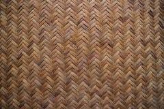竹子被编织的席子 库存照片