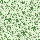 竹子离开绿色无缝的样式 向量例证